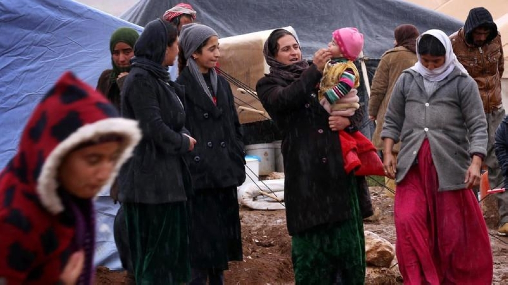 Women from the displaced Yazidi community in Iraq. — File photo