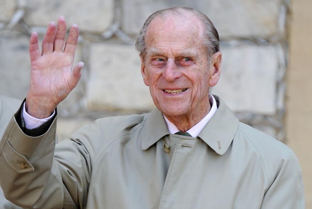 The Duke of Edinburgh Prince Philip looks on at Windsor Castle. — AFP