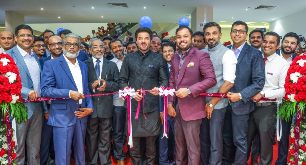 Bollywood actor Anil Kapoor inaugurates 2 new showrooms in Grand Mall, Sharjah and Grand Hypermarket, Jebel Ali, Dubai in the presence of  Shamlal Ahamed, Managing Director – International Operations, Malabar Gold & Diamonds,  Mayinkutty C, Senior Director – Malabar Group; Ameer CMC - Director – Finance & Admin, Malabar Gold & Diamonds; management team members of Malabar Gold & Diamonds, other dignitaries, well-wishers and invited guests