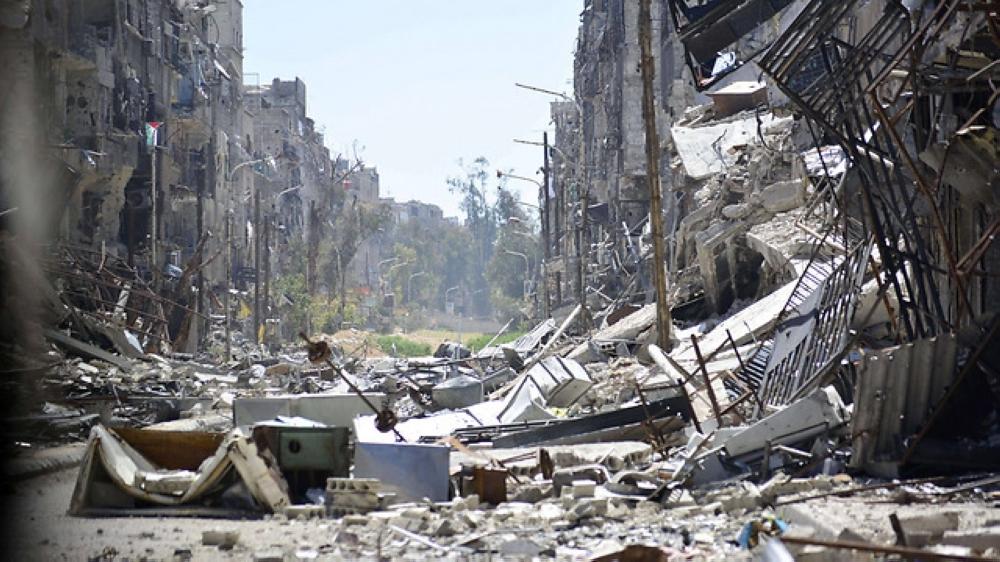 The Yarmouk refugee camp. — AFP