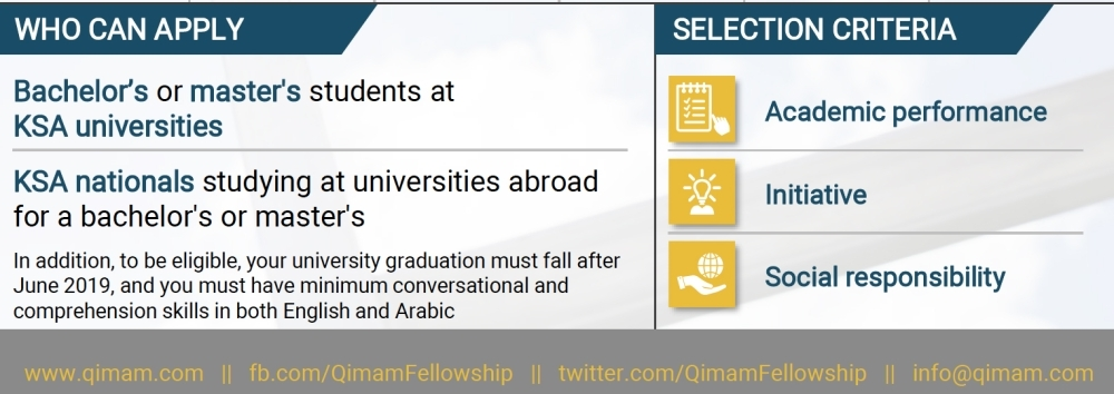 Qimam Fellowship launches 2019 applications for university students