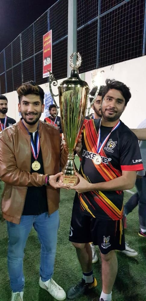 Tanveer and Daniyal with trophy