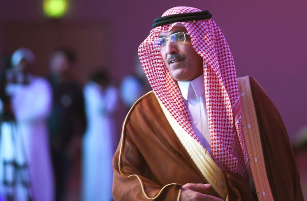 Saudi Minister of Finance Mohammed Al-Jadaan arrives to attends the Euromoney conference in the Saudi capital Riyadh on May 2, 2018 . AFP