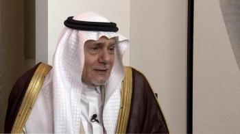 Prince Turki Al-Faisal during an exclusive interview with Al Arabiya English. — Courtesy photo