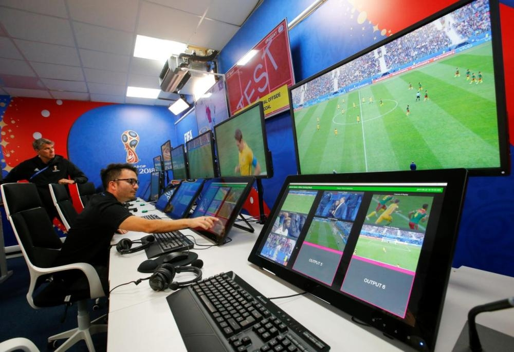 An interior view shows a video operation room (VOR), a facility of the Video Assistant Referee (VAR) system, rolled out in the Champions League last 16 stage by UEFA, who said they are satisfied with the system. — Reuters