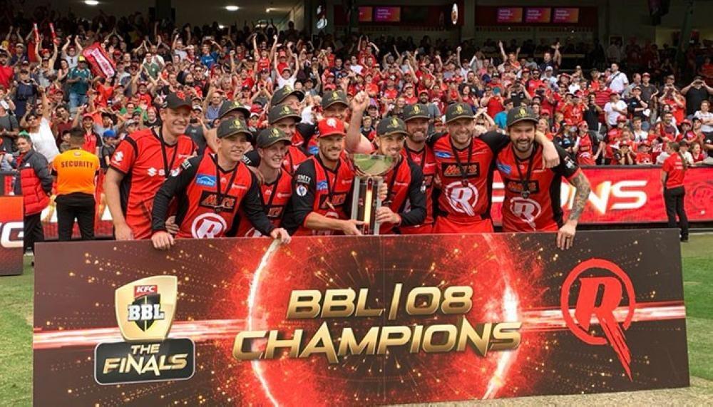 Melbourne Renegades celebrate their title