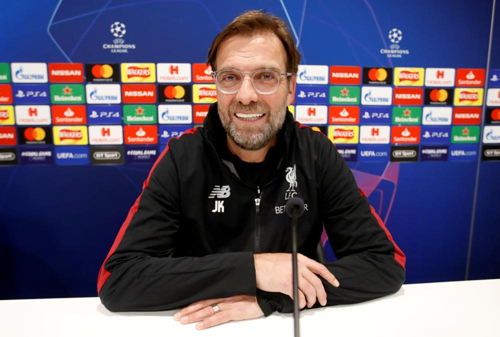 Soccer Football - Champions League - Liverpool Press Conference - Anfield, Liverpool, Britain - February 18, 2019   Liverpool manager Juergen Klopp during a press conference   Action Images via Reuters/Carl Recine