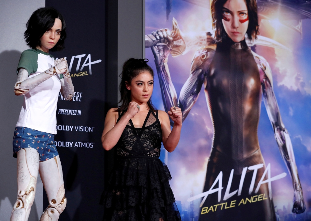 Cast member Rosa Salazar poses at the premiere for the movie