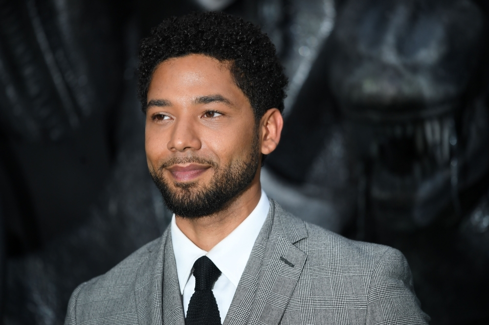 "US actor Jussie Smollett poses for a photograph upon arrival at the world premiere of ""Alien: Covenant"" in London in this May 4, 2017 file photo. — AFP"