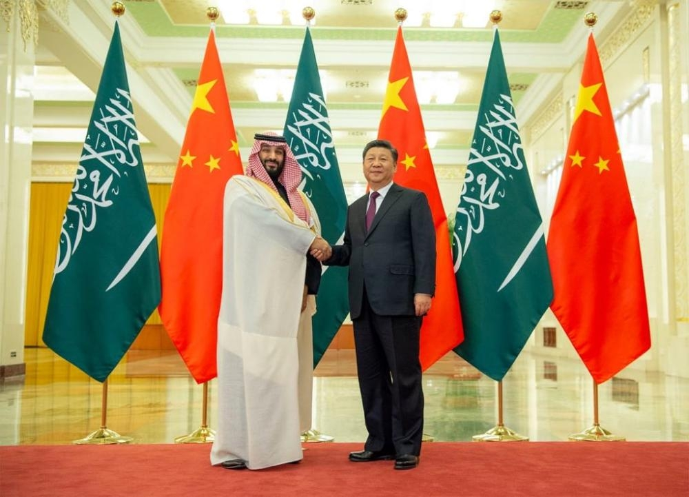 People's Republic of China President Xi Jinping received here on Friday Crown Prince Muhammad Bin Salman. SPA