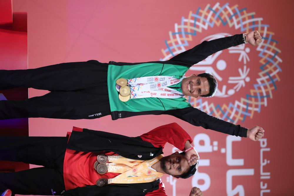 Hassan Al-Hadhariti — three golds