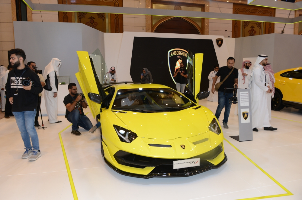 Lamborghini stall at the he EXCS Luxury Motorshow in Jeddah. — Courtesy photo
