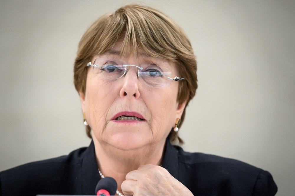 United Nations High Commissioner for Human Rights Michelle Bachelet delivers a speech on Venezuela during the 40th session of UN Human Rights Council at the United Nations offices in Geneva on Wednesday. — AFP