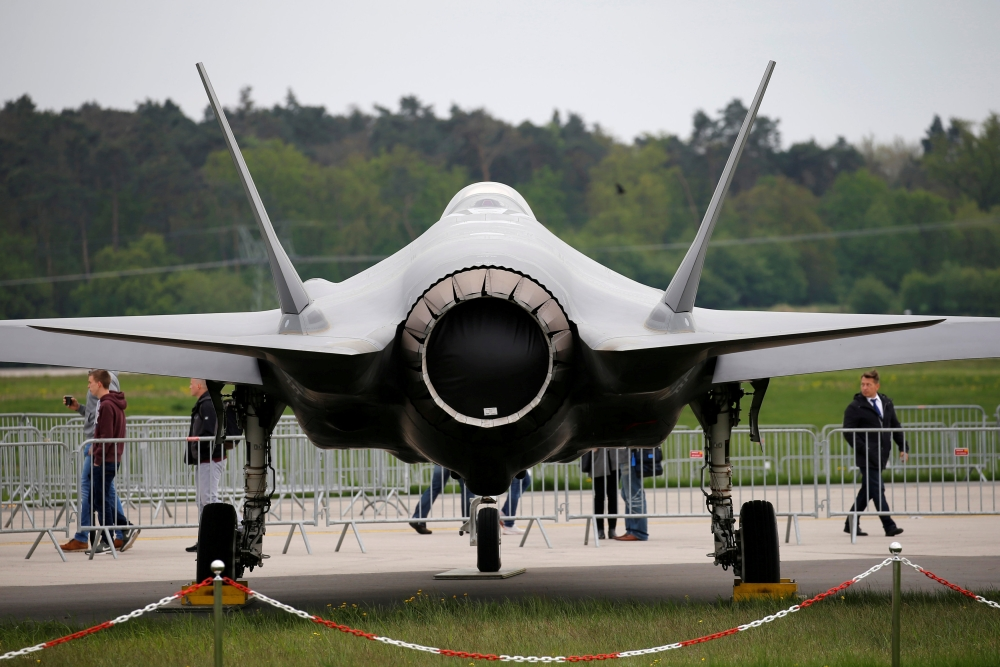 A Lockheed Martin F-35 aircraft is seen at the ILA Air Show in Berlin, Germany, in this April 25, 2018 file photo. — Reuters