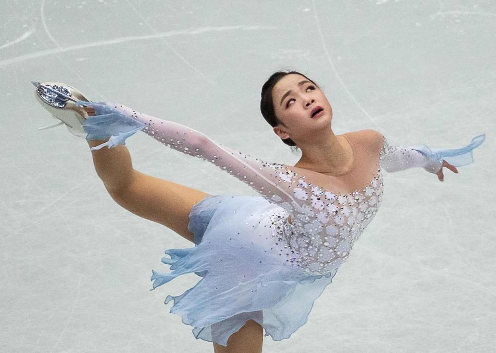 South Korea's Eunsoo Lim performs in the ladies short program during the 2019 ISU World Figure Skating Championships in the Japanese city of Saitama on Wednesday. — AFP