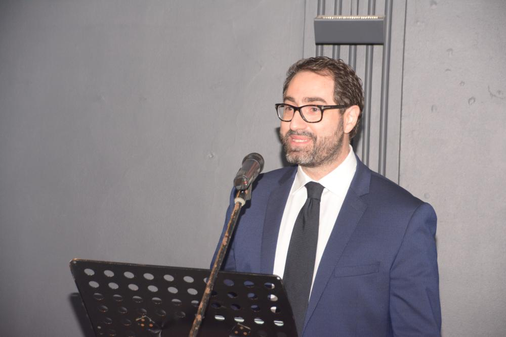 Consul General of Italy Stefano Stucci speaks during the conference.