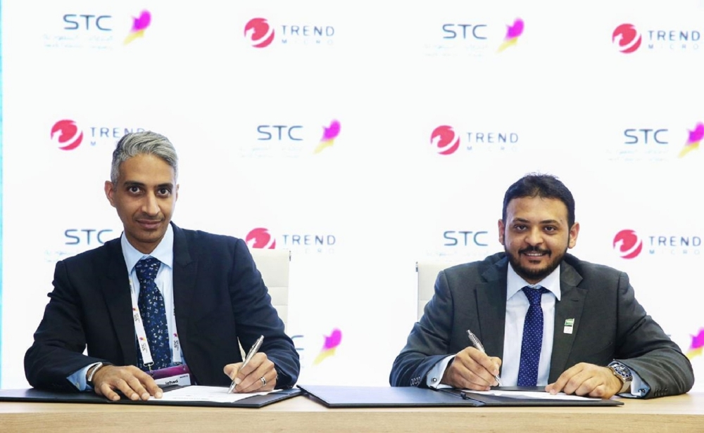 Jehad AlTwairki, Vice President for Business Solutions, STCS, and Muayad Simbawa, Director for Enterprise Business, Trend Micro