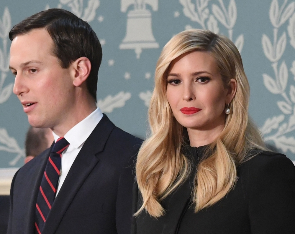 Ivanka Trump, right, and husband Jared Kushner arrive to attend the State of the Union address at the US Capitol in Washington in this Feb. 5, 2019 file photo. — AFP