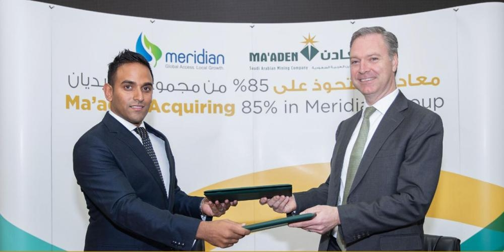 Maaden officially announces acquisition of 85percent of Meridian Fertilizers Group in Africa.