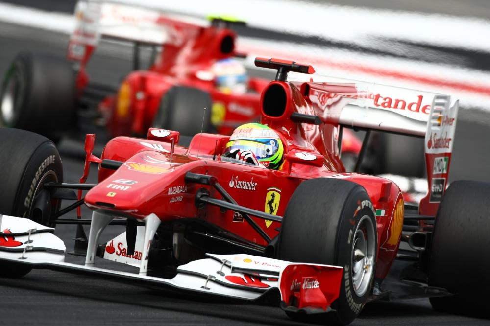 File photo of Ferrari cars in action in Hockenheim.