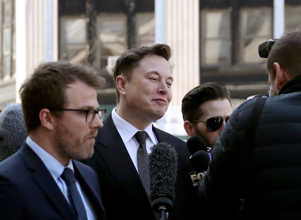 Fiel photo shows Tesla CEO Elon Musk arriving at Manhattan federal court for a hearing on his fraud settlement with the Securities and Exchange Commission (SEC) in New York City, US. — Reuters