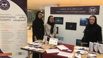 Dozens of students and their parents attended the open house organized by  Dar Al-Hekma University in Jeddah recently.