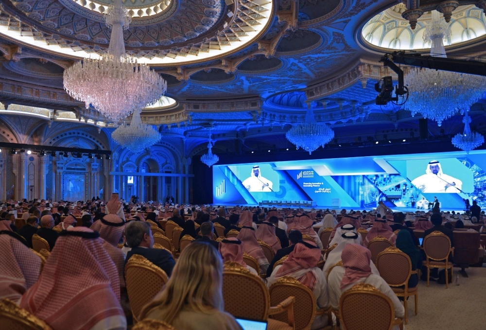 the Financial Sector Conference in progress in Riyadh on Wednesday.  — AFP