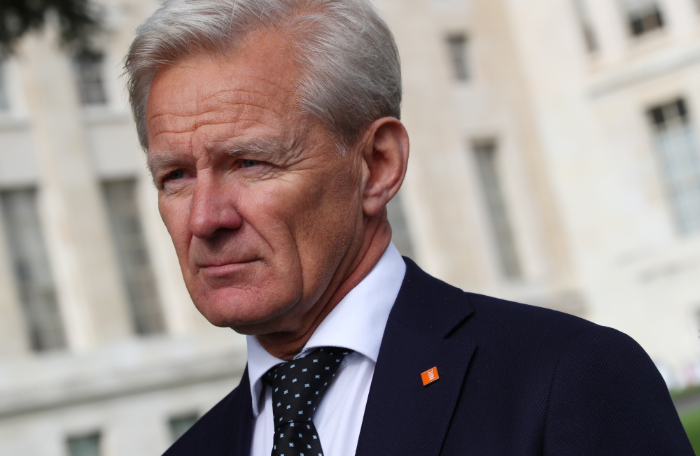 Secretary General of the Norwegian Refugee Council (NRC) Jan Egeland attends an interview at the United Nations European headquarters in Geneva, Switzerland, on Friday. — Reuters