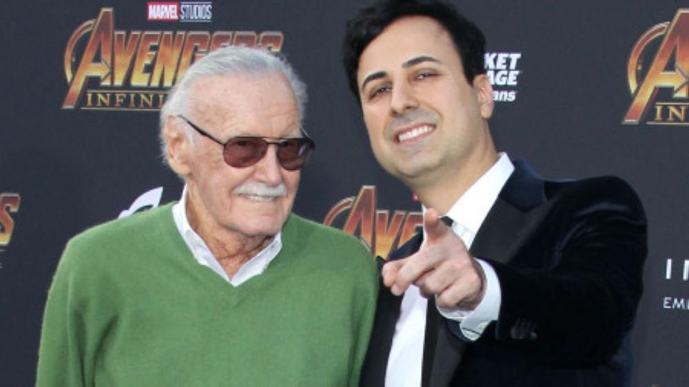Stan Lee (left) with Keya Morgan
