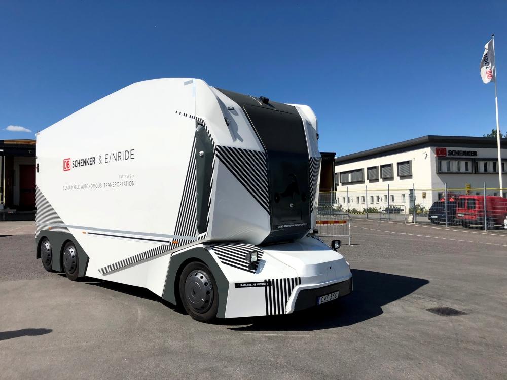 Swedish start-up Einride driverless electric truck is seen in Jonkoping, Sweden, Wednesday. — Reuters