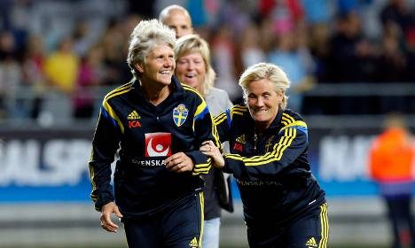 With the majority of the 24 teams at the Women's World Cup coached by men, the game needs to embrace the wealth of experience that female soccer coaches have to offer, former United States and Sweden coach Pia Sundhage, seen in this file photo, said.