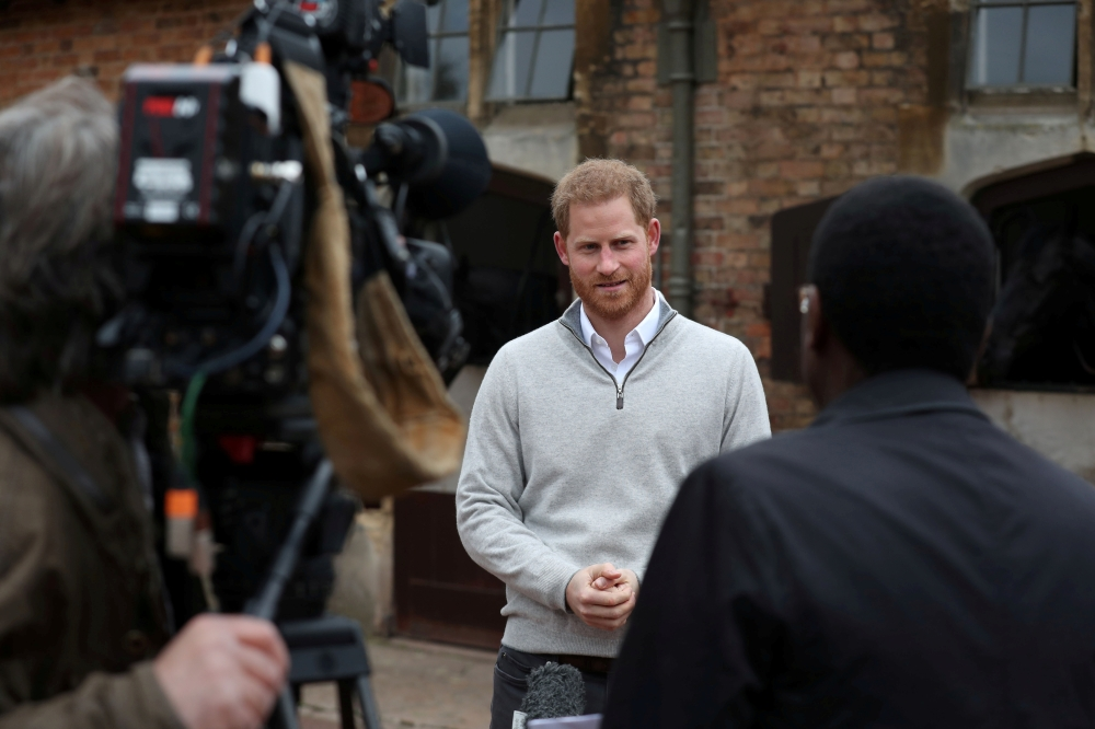 Britain's Prince Harry speaks to the media after Meghan, Duchess of Sussex, gave birth to a baby boy, at Windsor Castle, Berkshire county, Britain, in this May 6, 2019 file photo. — Reuters