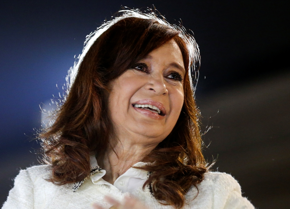 "Argentina's former President, and Vice President candidate of the Unidad Ciudadana (Citizen Unit) party, Cristina Fernandez de Kirchner, smiles to supporters after the presentation of her book ""Sinceramente"", at the Buenos Aires book fair, in Buenos Aires, Argentina, in this May 9, 2019 file photo. — Reuters"