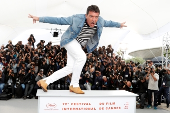 "Cast member Antonio Banderas poses during a photo-call for the film ""Pain and Glory"" at 72nd Cannes Film Festival in Cannes, France, on Saturday. — Reuters"