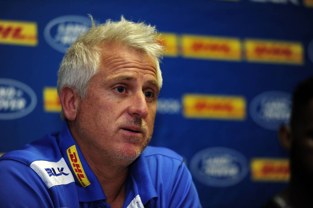 Robbie Fleck, head coach of the Stormers chats to media during the 2019 Super Rugby training session for the Stormers ahead of their game against the Crusaders, at Newlands Rugby Stadium, Cape Town in this 16 May 2019 file photo. — Reuters
