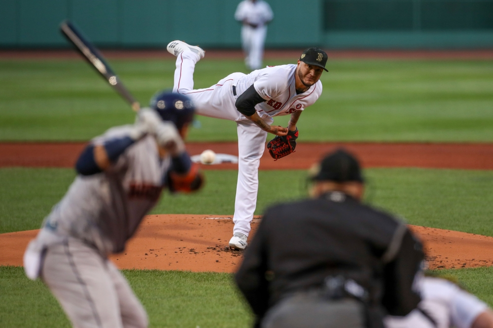 Boston Red Sox starting pitcher Hector Velazquez (76) throws a pitch during the first inning against the Houston Astros at Fenway Park, in Boston, in this May 18, 2019 file photo. — Reuters