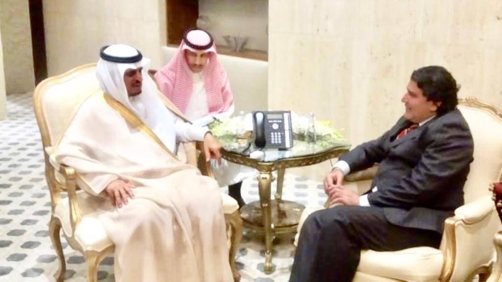 Deputy Minister of Interior Dr. Nasser Bin Abdulaziz Al-Daoud receives Ambassador of Pakistan Raja Ali Aijaz in his office.