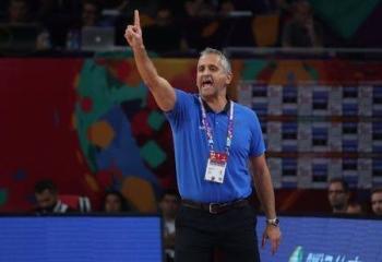 Coach Igor Kokoskov of Slovenia reacts during the European Championships EuroBasket 2017 semifinal in Istanbul, Turkey in this Sept. 14, 2017 file photo. — Reuters