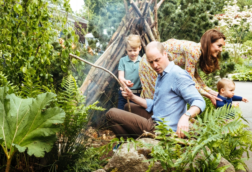 Britain's Prince William and Catherine, Duchess of Cambridge with Prince George and Prince Louis explore the Adam White and Andree Davies co-designed garden ahead of the RHS Chelsea Flower Show in London, Britain. — Reuters