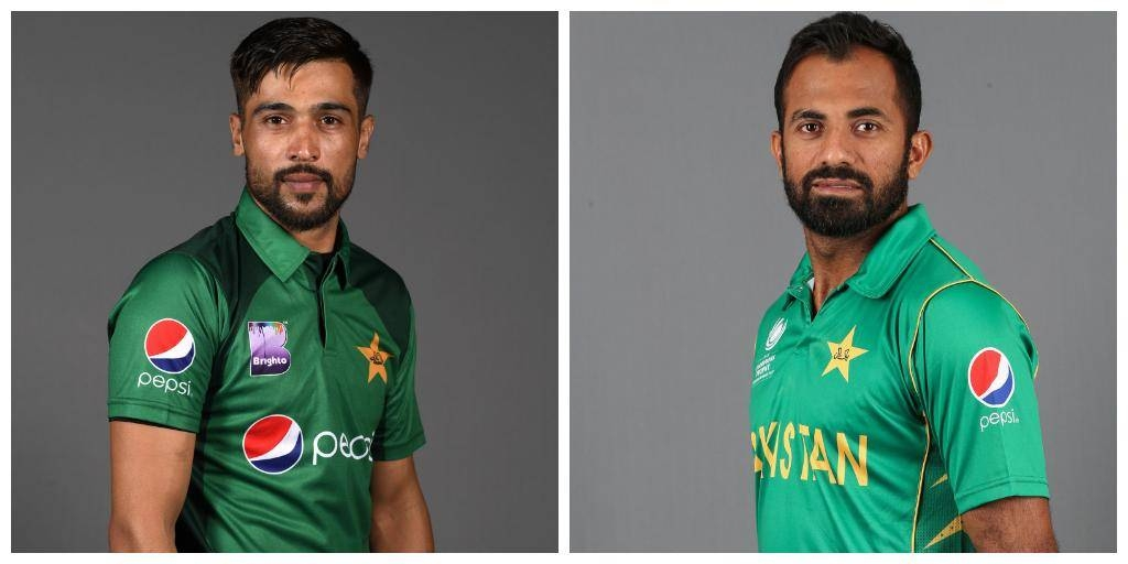 Fast bowlers Wahab Riaz, right, and Mohammad Amir have been drafted in to Pakistan's final 15-man squad for the World Cup along with middle-order batsman Asif Ali, the country's cricket board (PCB) said on Monday.