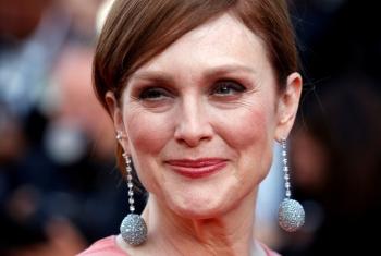 Julianne Moore poses ahead of screening of the