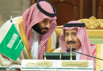 Custodian of the Two Holy Mosques King Salman listens to Crown Prince Muhammad Bin Salman, deputy premier and minister of defense, during the opening of the opening of the 39the session of the GCC summit in Riyadh in this file photo. — SPA
