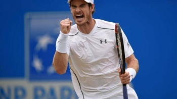 Great Britain's Andy Murray celebrates during the final match of Aegon Championships at Queens Club, London, in this file photo, — Reuters