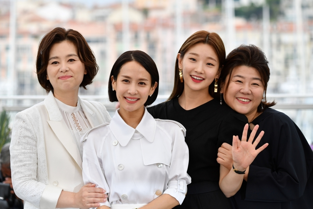 (From L) South korean actress Chang Hyae-Jin, South Korean actress Cho Yeo-Jeong, South Korean actress Park So-Dam and South Korean actress Lee Jung-Eun pose during a photocall for the film