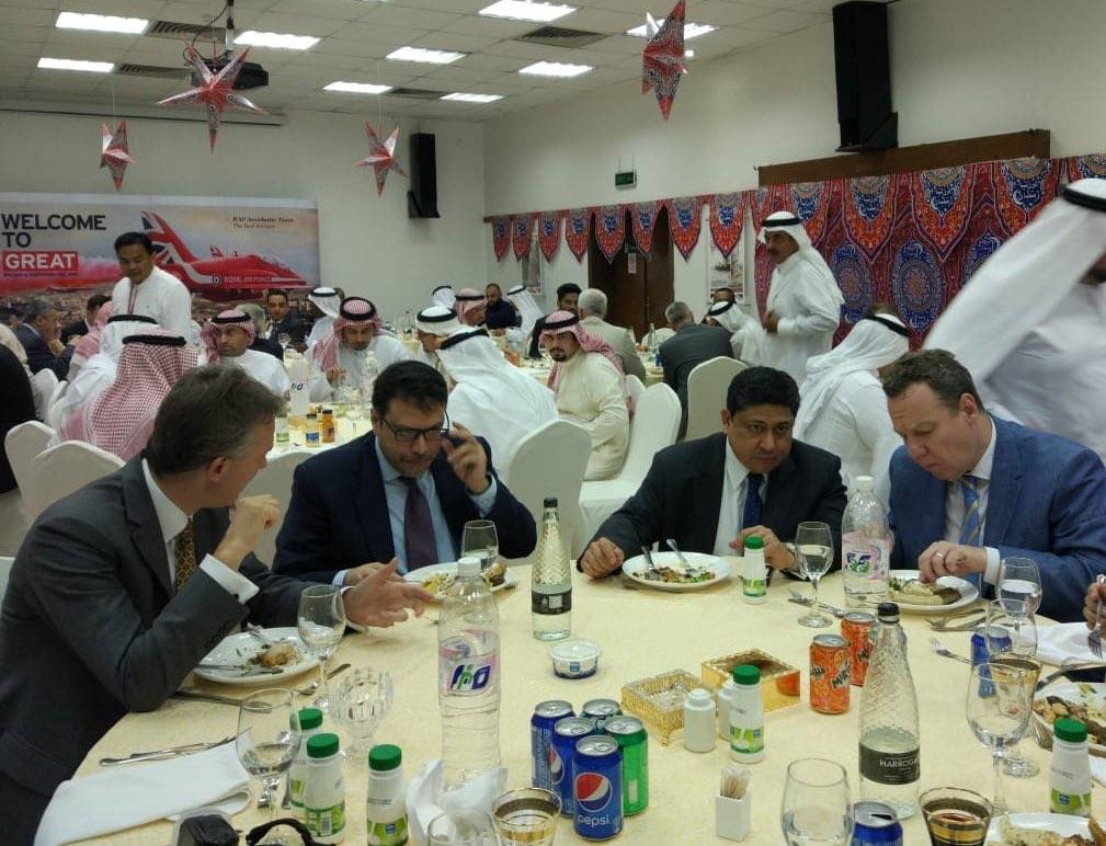 The iftar ceremony at the British Consulate General in Jeddah on Tuesday.