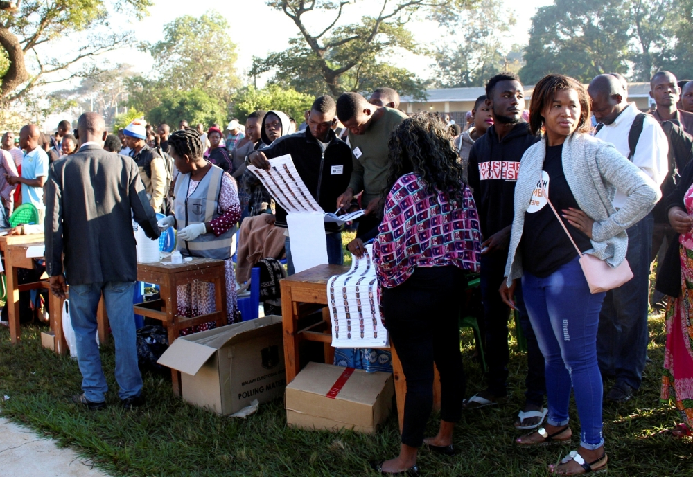 Voters queue to cast their ballots in Malawi's presidential and legislative elections, in Lilongwe, Malawi, in this May 21, 2019 file photo. — Reuters