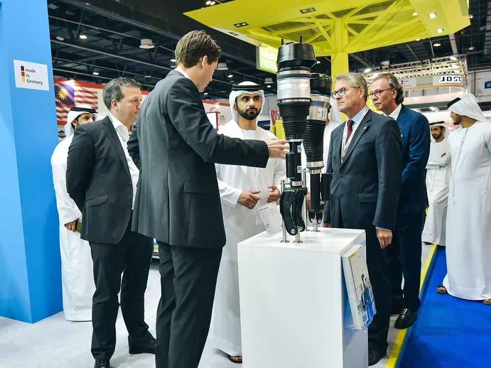 Sheikh Mansoor Bin Mohammed opens Automechanika Dubai on Monday.