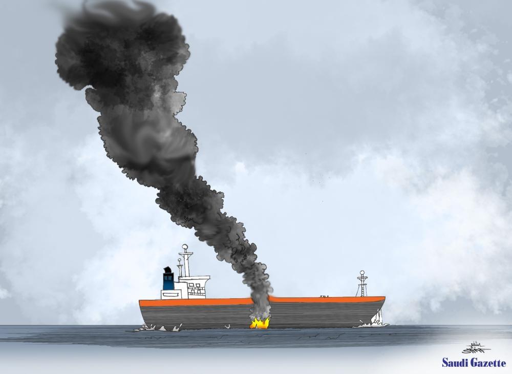 Tanker ablaze