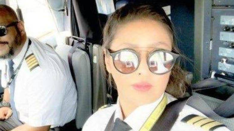 """Ten months after she got her pilot license and told Al Arabiya English that she will """"soon captain a national airliner,"""" Al-Maimani achieved her goal. — Courtesy photo"""