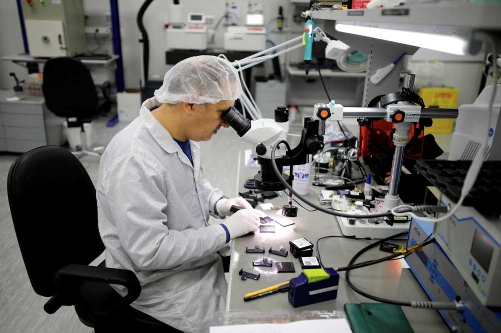A technician works in a clean-room at Mellanox Technologies building in Yokneam, Israel, in this March 4, 2019 file photo. — Reuters